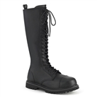 RIOT-20 Black Demonia 20-Eye Combat Boots