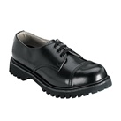ROCKY-03 Black Leather Work Shoes