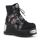 SCENE-53 Cyber Buckled Platform Boots
