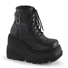 SHAKER-52 Black Wedge Platform Boots