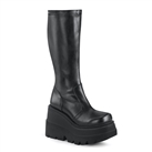 SHAKER-65  Black Wedge Platform Boots