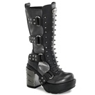 SINISTER-202 Studded Calf Boots