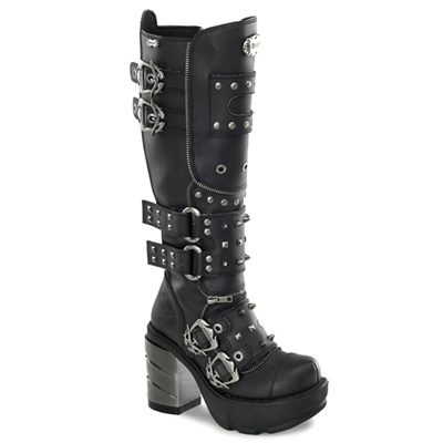 SINISTER-300 Studded Knee Boots