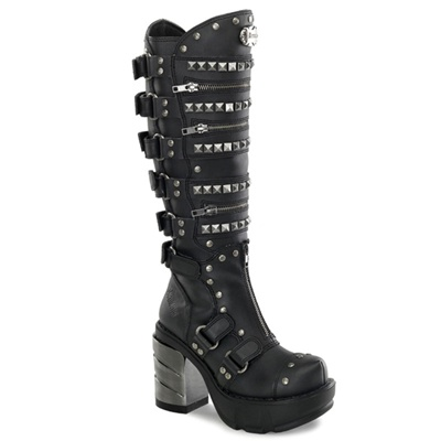 SINISTER-301 Studded Knee Boots