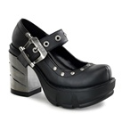 SINISTER-59 Chrome Heel Platform Shoes