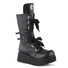SPRITE-210 Black Lace-up Platform Boots