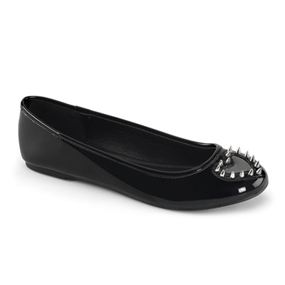 STAR-24 Studded Black Heart Flats