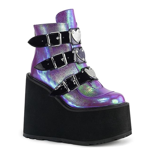 Gothic Platform Boots - Demonia Shoes