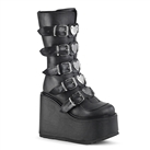 SWING-230 Demonia Black Heart Platform Boots