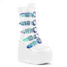 SWING-230 Demonia White Heart Platform Boots