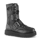 VALOR-210 Black Buckled Demonia Platform Boots