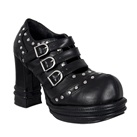 VAMPIRE-08 Chunky Heel Buckle Shoes
