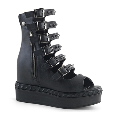 VENOM-110 Studded Wedge Platform Shoes