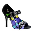 ZOMBIE-09 Zombie Print Mary Jane Pumps