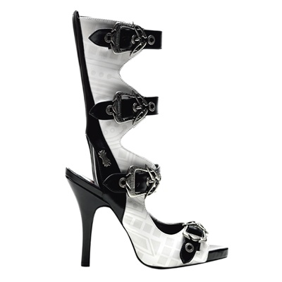 ZOMBIE-103 Psychobilly Print Mary Jane Sandals