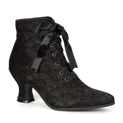 Black Lace Victorian Ankle Boots