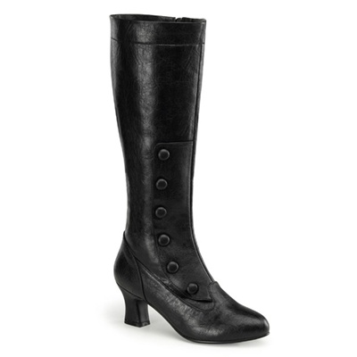 CLASSIC-233 Knee High Button Boots