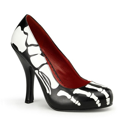 X-RAY-12 Skeleton Print Pumps