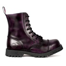 NEVERMIND 8-Eye Purple  Leather Boots
