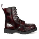 NEVERMIND 8-Eye Burgundy WINGTIP Boots