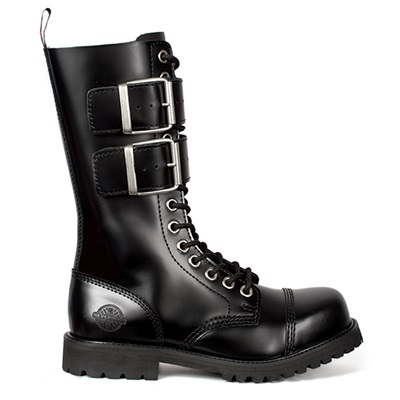 14-eye Leather Combat Boots by Nevermind
