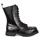 Black Wingtip Combat Boots by Nevermind
