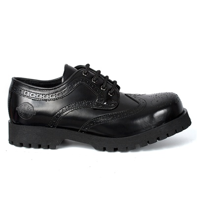 Black Leather WINGTIP Shoes by Nevermind