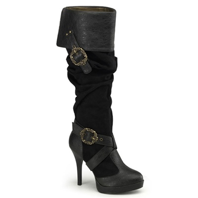CARRIBEAN-216 Steampunk Buckle Boots
