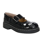 TUK Black Kitty Mary Jane Shoes