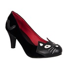 TUK Black VELVET Kitty Pumps