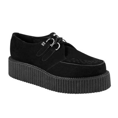 TUK Black Suede Mondo Creeper Shoes