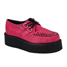 TUK Hot PInk Suede Mondo Creeper Shoes