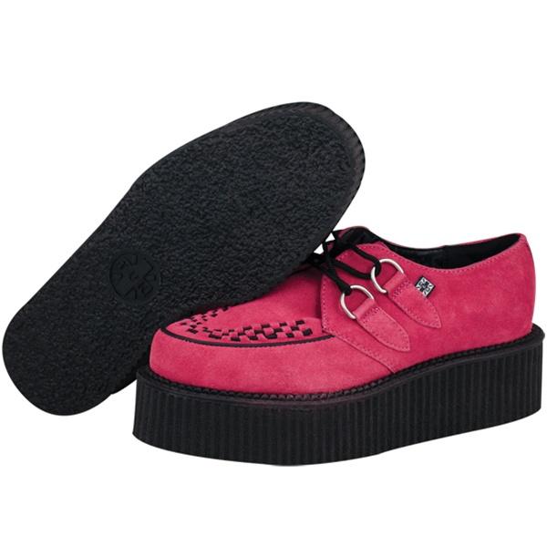 tuk pink suede mondo creeper shoes tuk shoes
