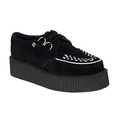 Black Suede Mondo Creeper Shoes