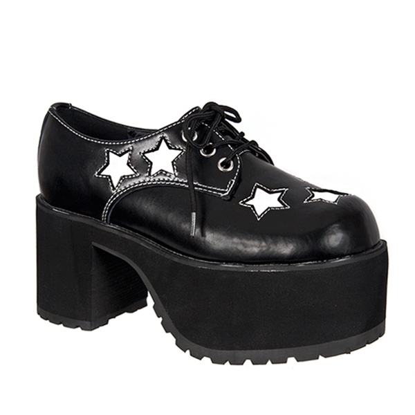 Black Star Platform Shoes Tuk Shoes Sinistersoles Com