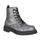 Womens SILVER Combat Boots