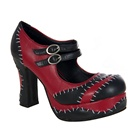 Monster Stitch Platform Mary Jane Shoes