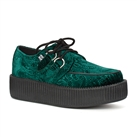 TUK Green Velvet Creeper Shoes