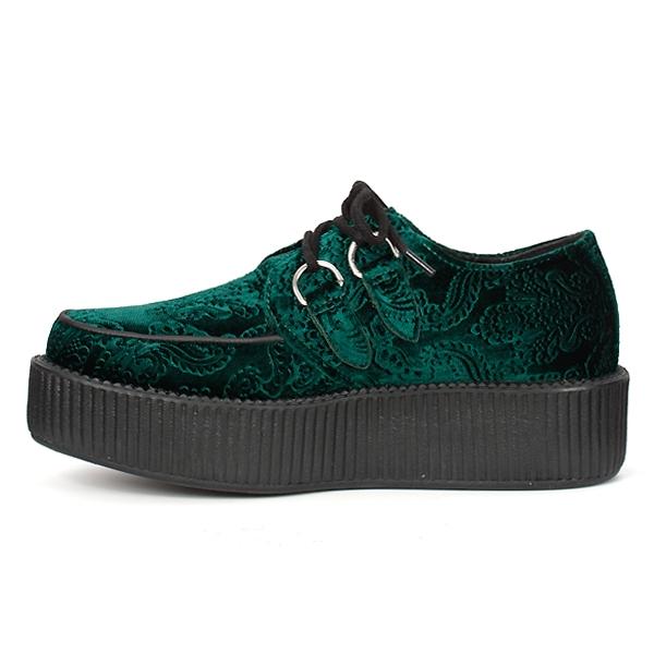 tuk green velvet mondo creeper shoes tuk shoes