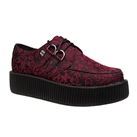 TUK Burgundy Brocade Creeper Shoes